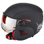 Alpina Carat LE Visor HM Helmet Kids black-red matt